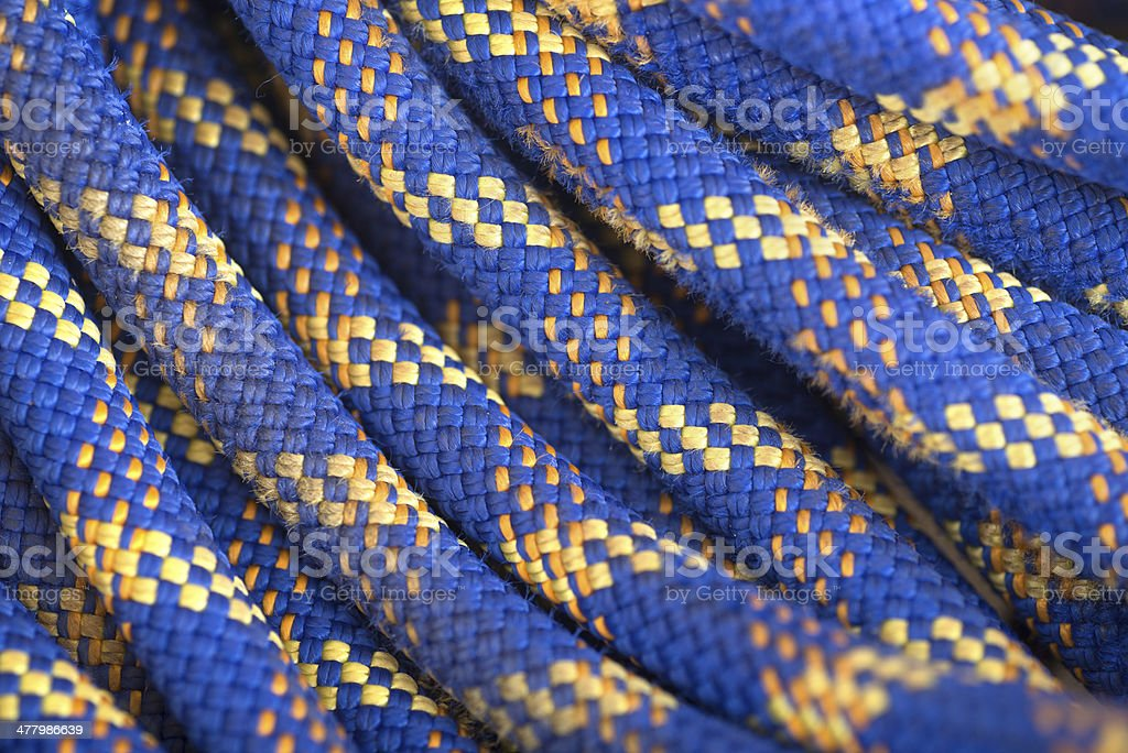 blue rope in fulle-frame backrgound stock photo