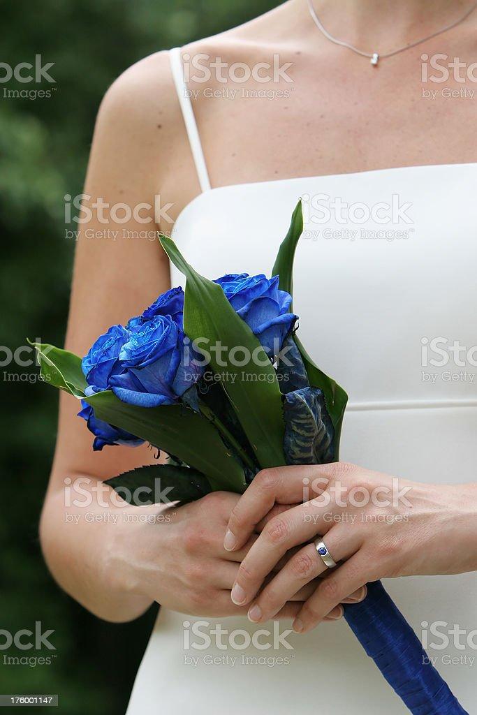 Blue Rose Bride Front stock photo
