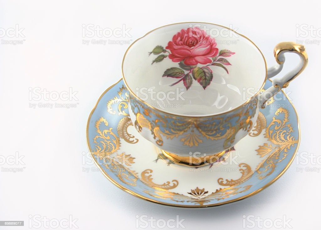 Blue Rose Teacup royalty-free stock photo