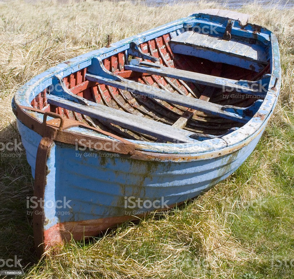 Blue Rowing Boat royalty-free stock photo