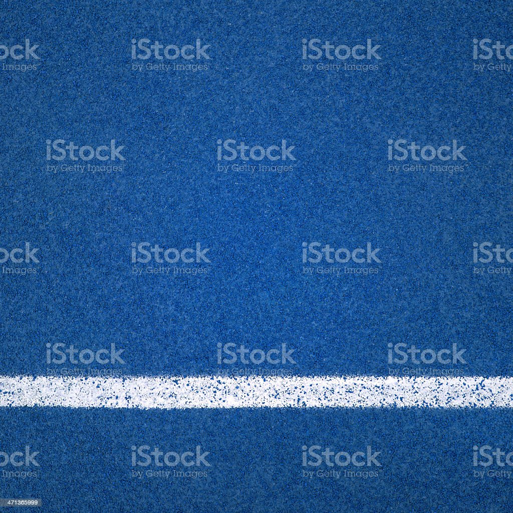 Blue Running track rubber cover stock photo