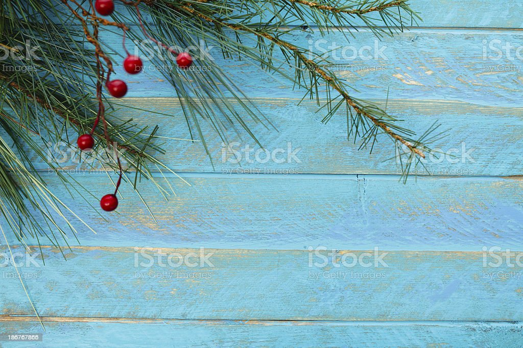 Blue Rustic Christmas royalty-free stock photo