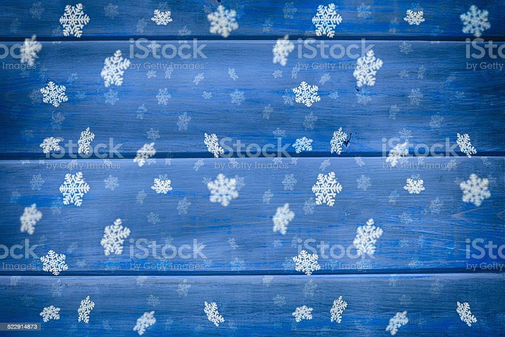 Blue Rustic Christmas stock photo