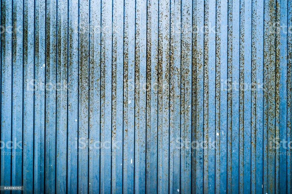 Blue rusty metal texture stock photo