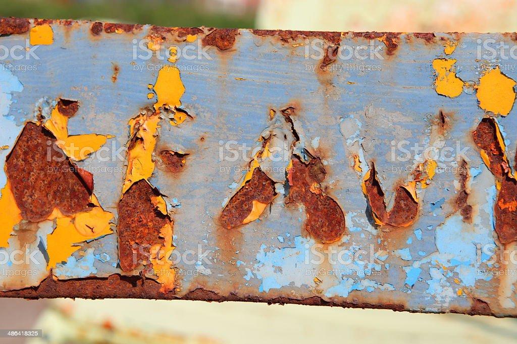 Blue rusty paint royalty-free stock photo