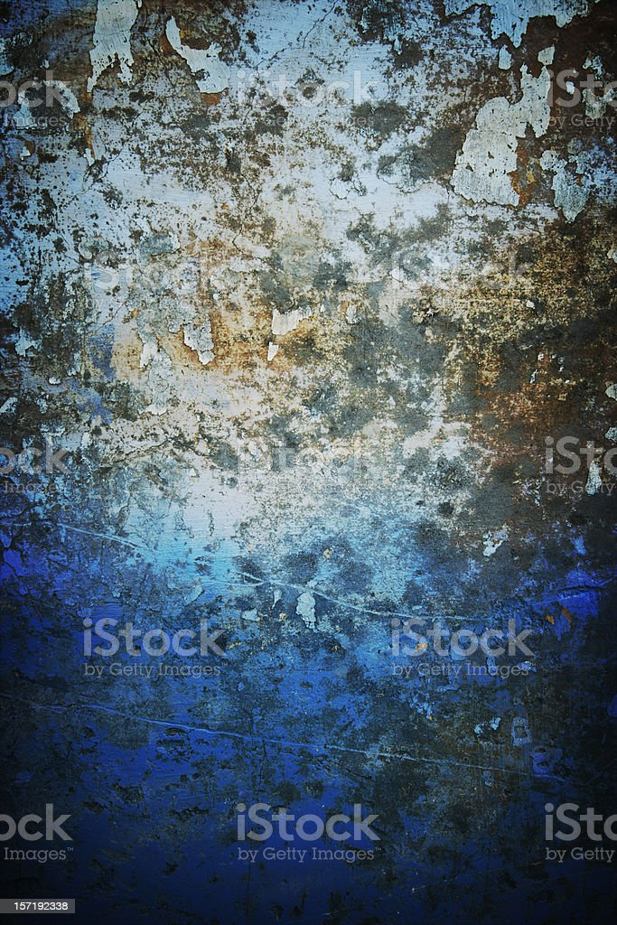 Blue rusty wall stock photo
