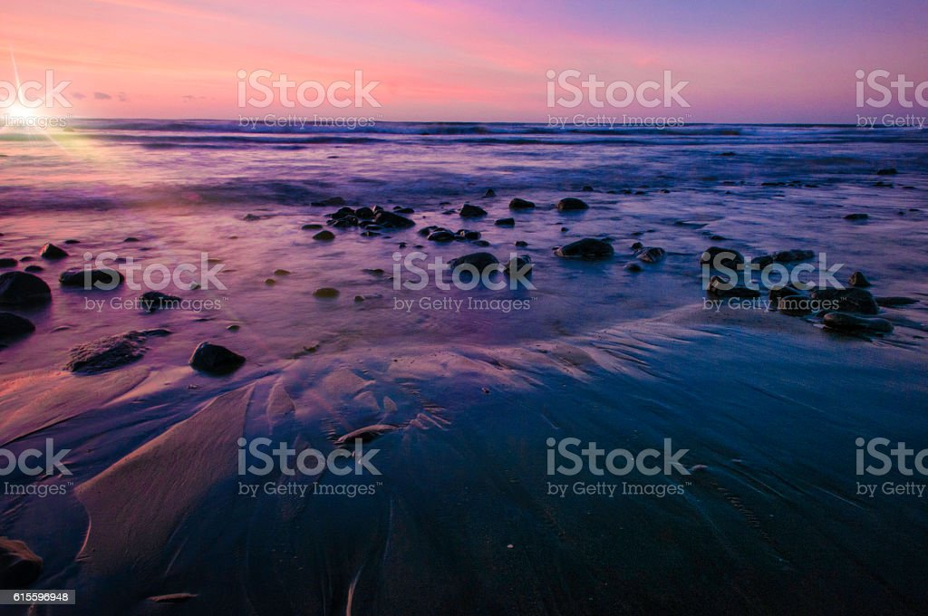 Blue sand with flare stock photo