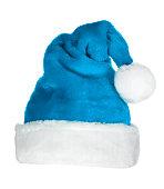 Blue Santa Hat on white