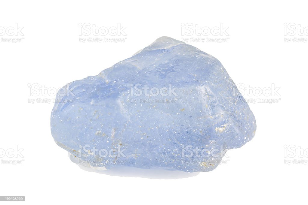 Blue sapphire crystal stock photo