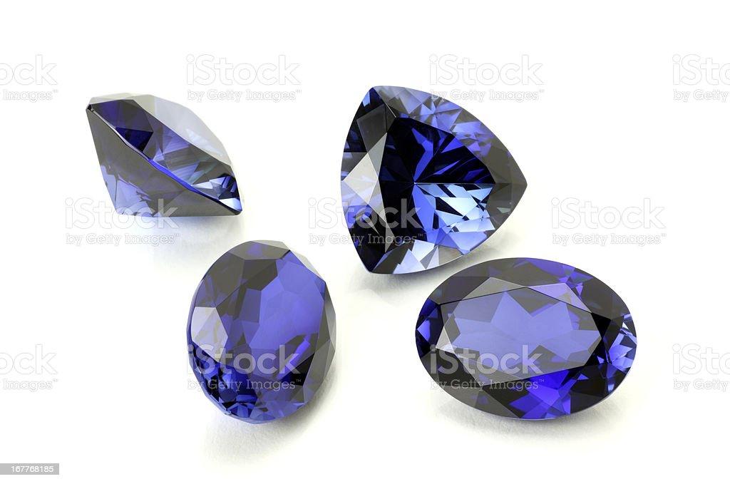 Blue Sapphire or Tanzanite royalty-free stock photo
