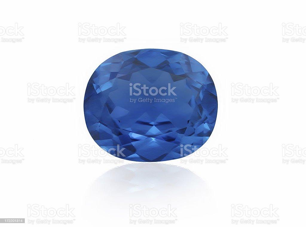 Blue Sapphire royalty-free stock photo
