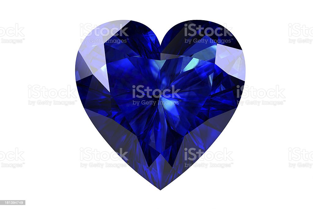 blue sapphire royalty-free stock photo