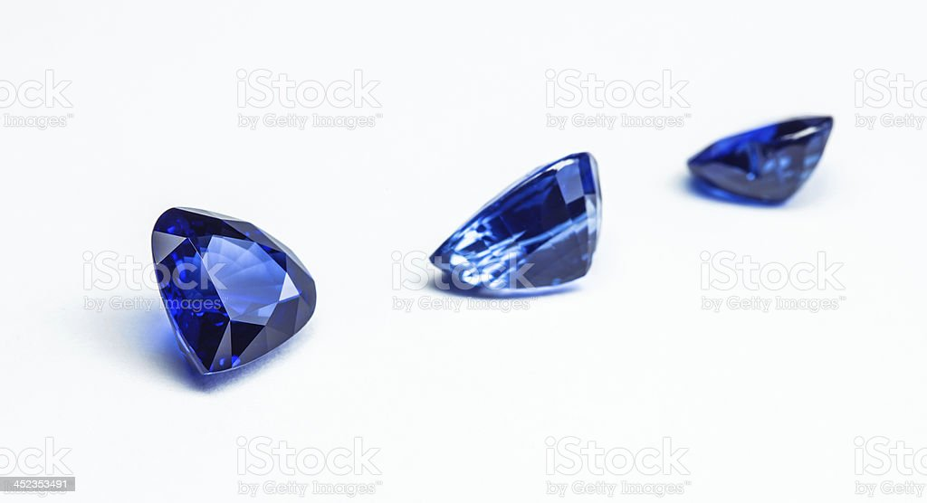 blue sapphires royalty-free stock photo