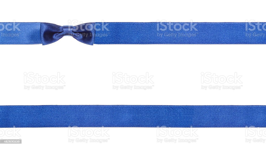 blue satin bows and ribbons isolated - set 17 stock photo