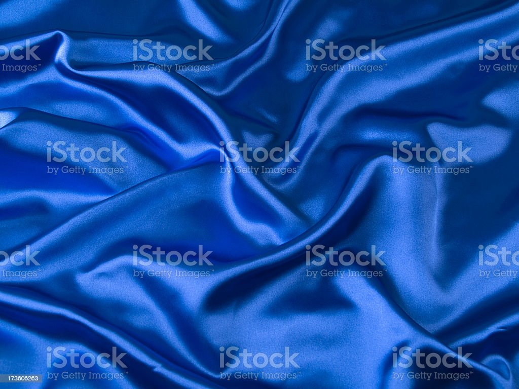 Blue satin royalty-free stock photo