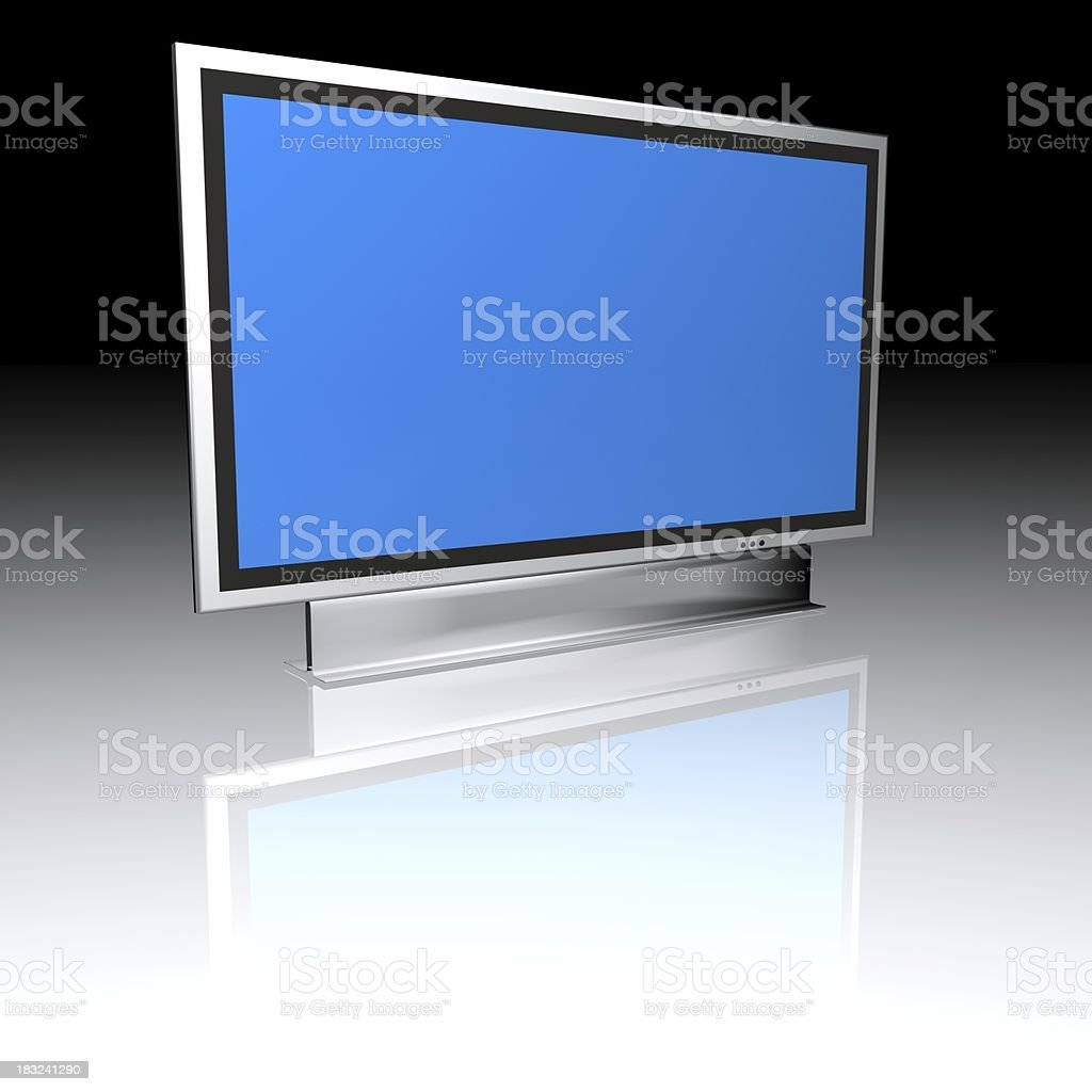 Blue screen - lcd plasma monitor royalty-free stock photo