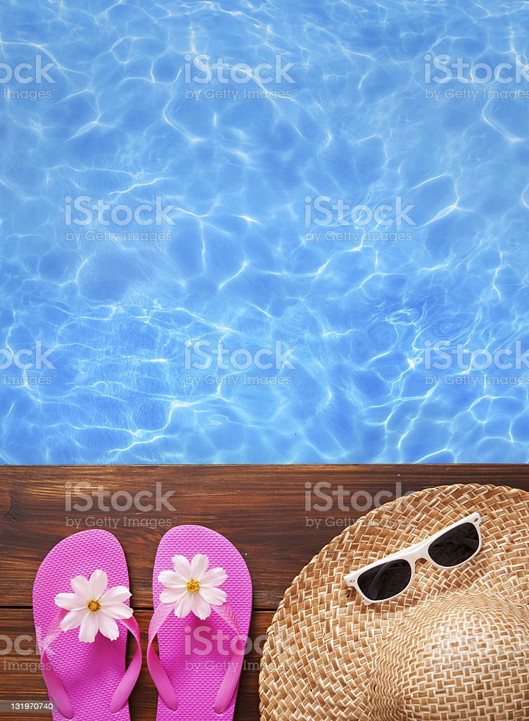 Blue sea next to summer images royalty-free stock photo