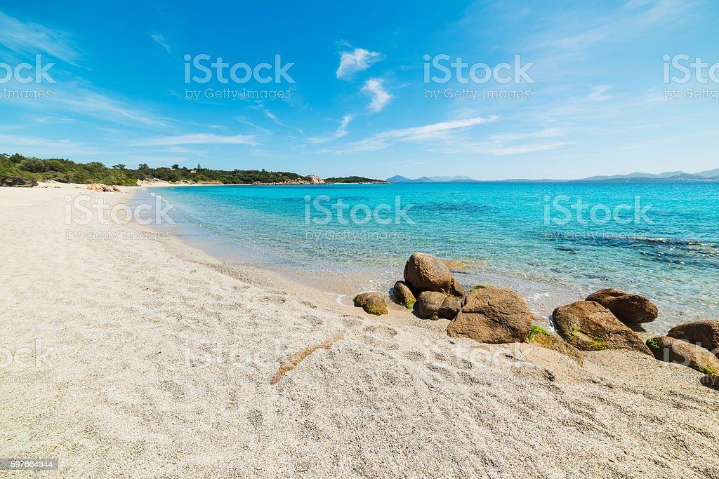 blue sea over La Celvia beach stock photo