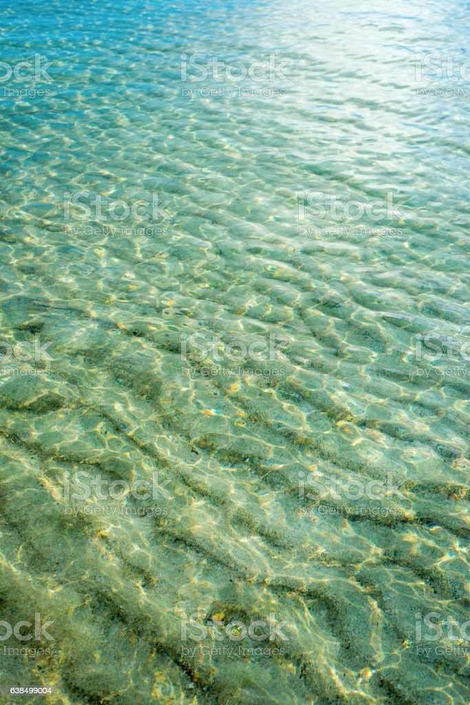 Blue sea surface with waves stock photo