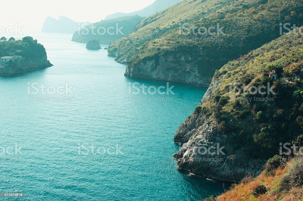 Blue sea water stock photo