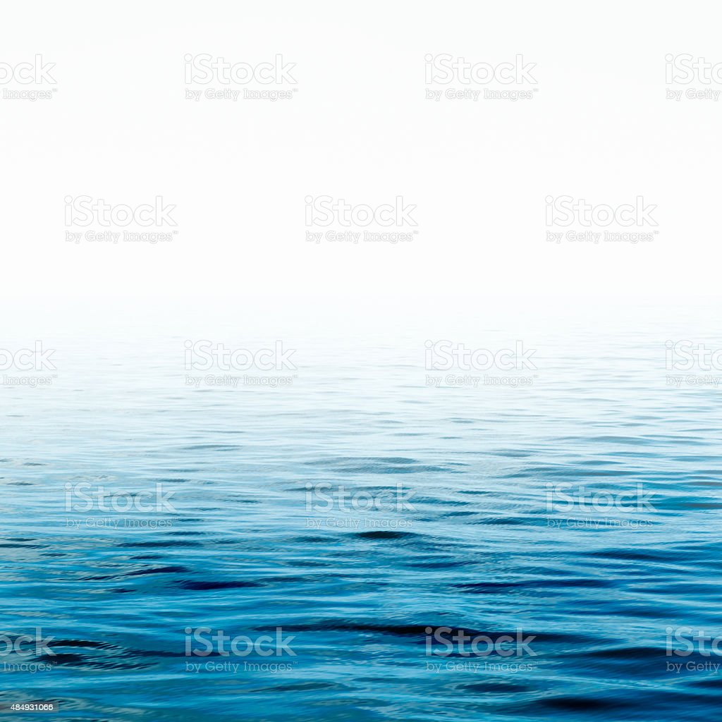 Blue sea water surface stock photo