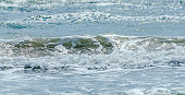 Blue sea water with waves, The Black Sea
