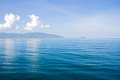 Blue sea waves surface background