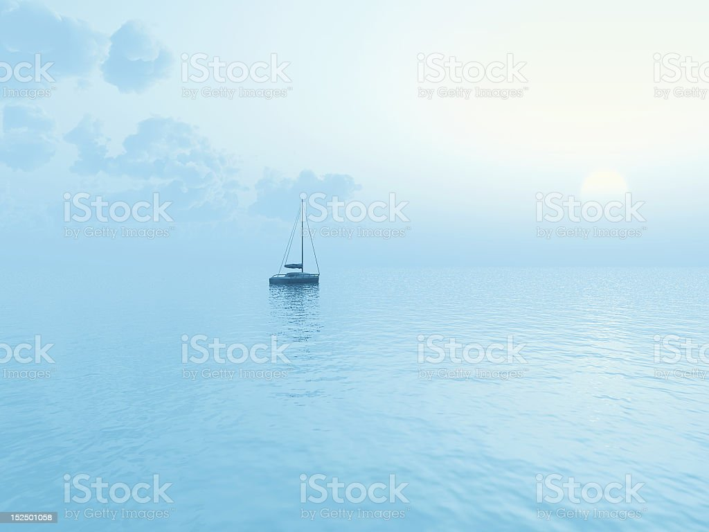 blue seascape royalty-free stock photo
