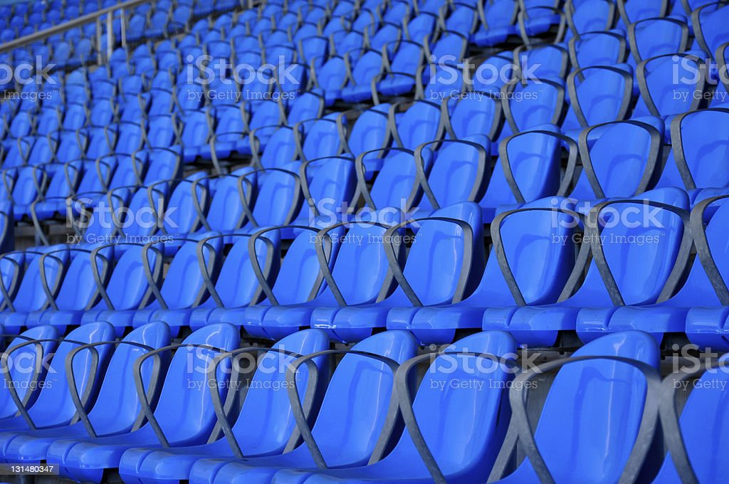 Blue Seats royalty-free stock photo