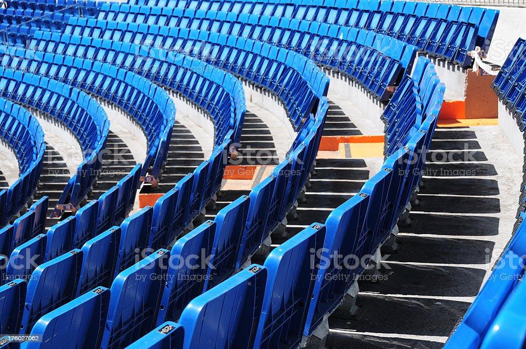 Blue Seats royalty-free stock photo
