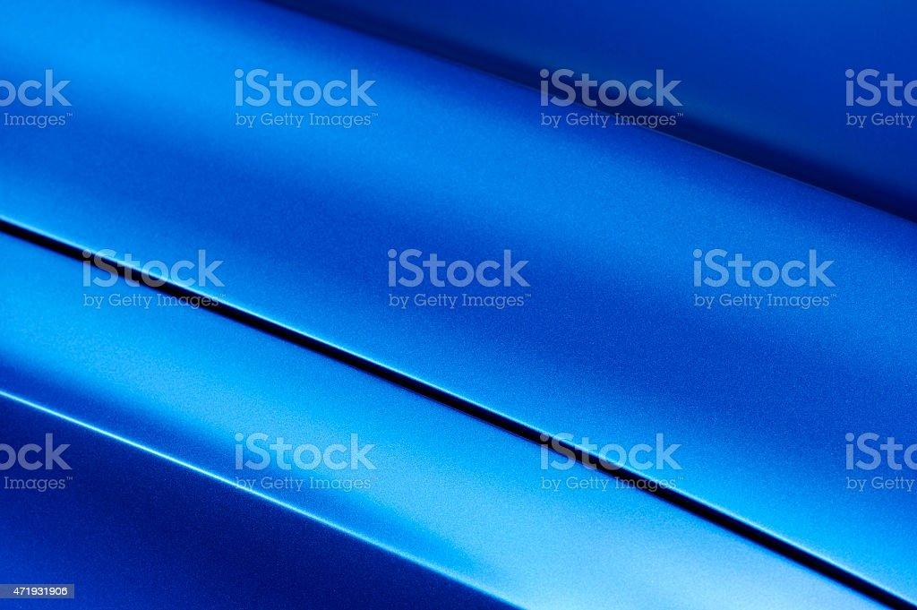 Blue sedan bodywork stock photo