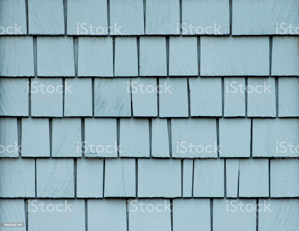 Blue Shingles Wall stock photo
