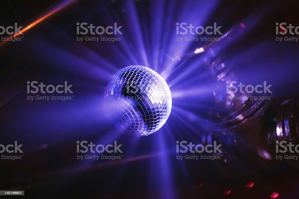 blue shining discoball royalty-free stock photo