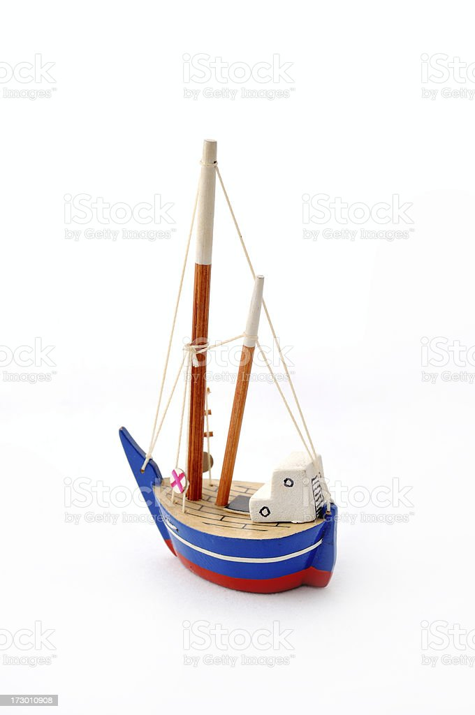 Blue Ship royalty-free stock photo