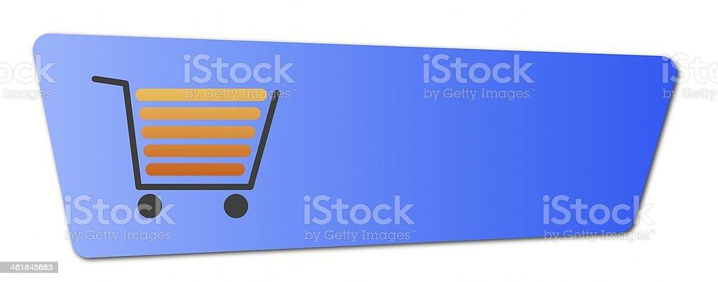 Blue Shopping Cart Button royalty-free stock photo