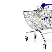 Blue shopping cart model