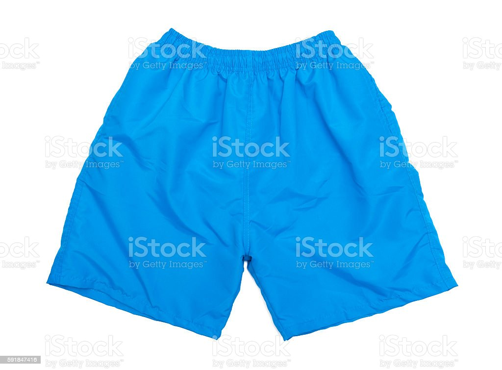 Blue shorts stock photo