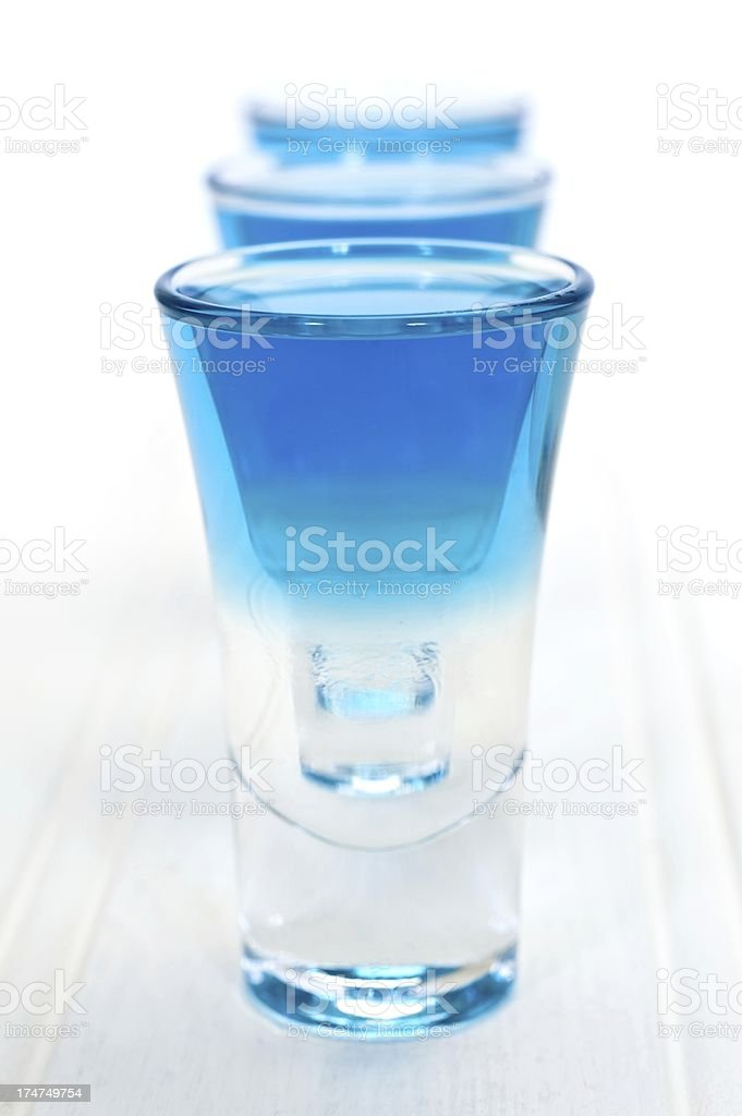 Blue Shot Drink royalty-free stock photo