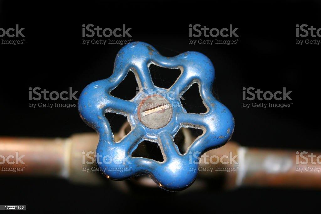 Blue Shutoff Valve royalty-free stock photo