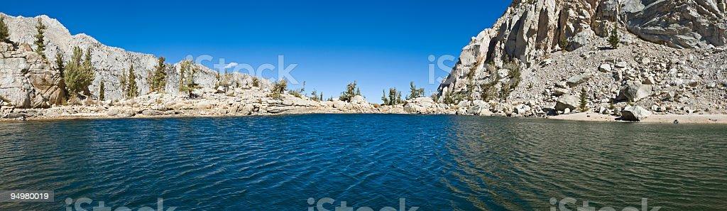 Blue Sierra lake stock photo