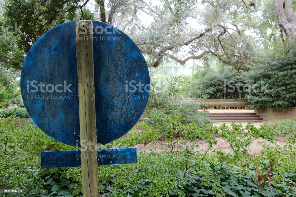 Blue Sign royalty-free stock photo