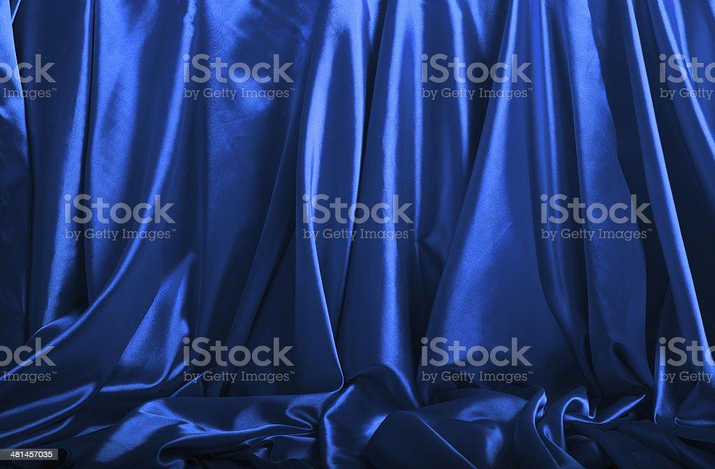 Blue silk background royalty-free stock photo