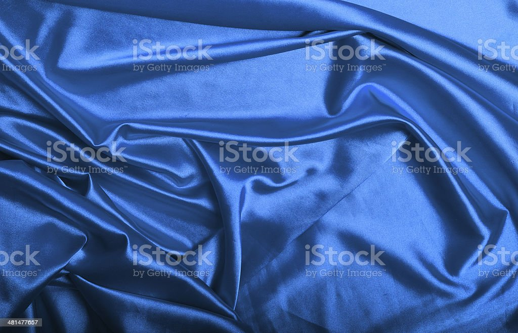 Blue silk background texture royalty-free stock photo