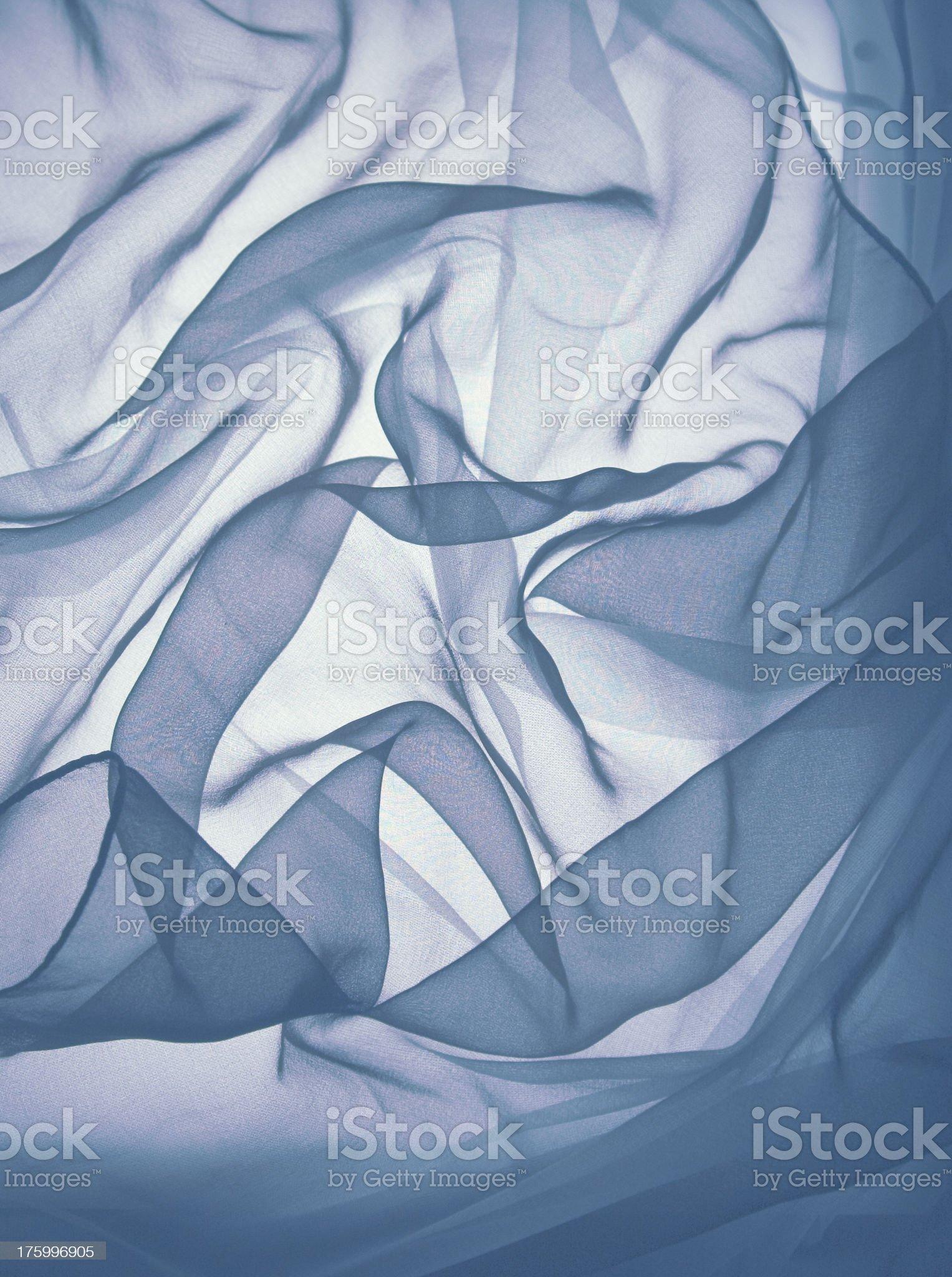 blue silk gossamer royalty-free stock photo