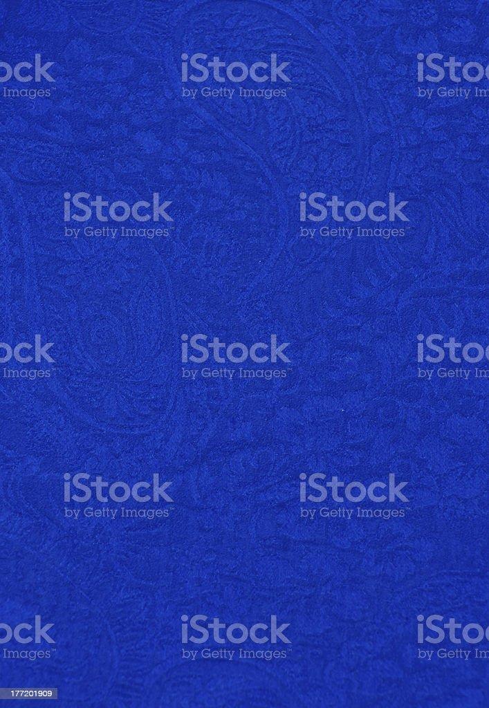 Blue Silk Paisley royalty-free stock photo