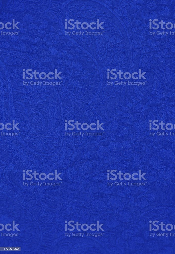 Blue Silk Paisley stock photo
