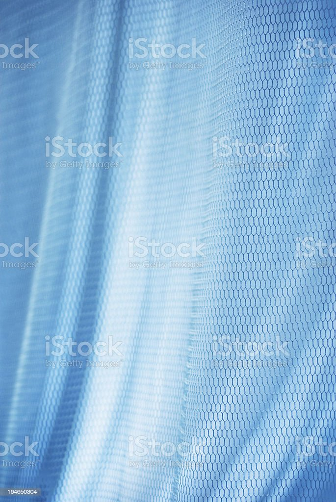 blue silky smooth netting fabric abstract background royalty-free stock photo