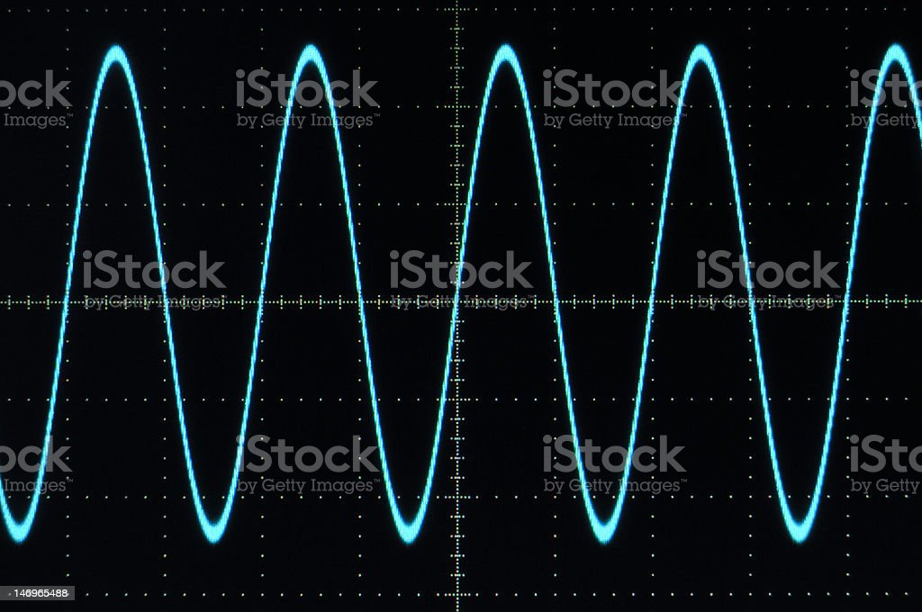 Blue sine wave royalty-free stock photo