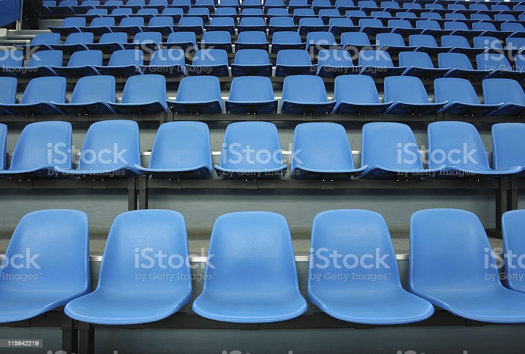 Blue sittings royalty-free stock photo