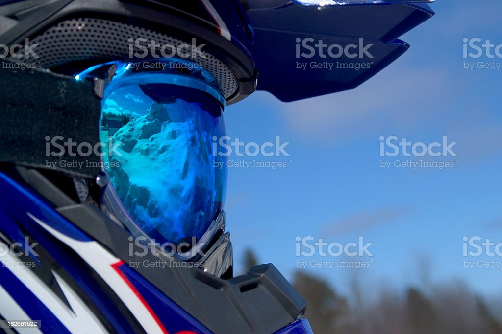 Blue Ski Goggles royalty-free stock photo
